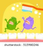 cartoon germs running away from ...