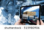 industry 4.0 augmented reality... | Shutterstock . vector #515980906