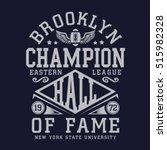 brooklyn athletic sport... | Shutterstock .eps vector #515982328