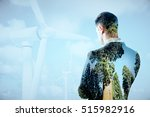thoughtful businessperson on... | Shutterstock . vector #515982916