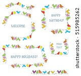 frames set for events and... | Shutterstock .eps vector #515985262