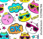 seamless pattern with patch...   Shutterstock .eps vector #515986786