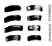 set of brush strokes   Shutterstock .eps vector #515988805