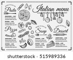 italian menu placemat food... | Shutterstock .eps vector #515989336