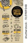 coffee menu placemat food... | Shutterstock .eps vector #515989348