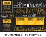 cafe menu food placemat... | Shutterstock .eps vector #515989486