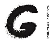 g   ink letters isolated over... | Shutterstock . vector #51598996