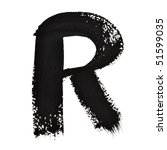 r   ink letters isolated over... | Shutterstock . vector #51599035