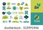 bio  ecology  organic logos and ... | Shutterstock .eps vector #515991946