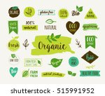 bio  ecology  organic logos and ... | Shutterstock .eps vector #515991952