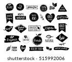 bio  ecology  organic logos and ... | Shutterstock .eps vector #515992006