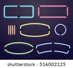neon light borders. vector... | Shutterstock .eps vector #516002125