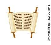 torah scroll icon in flat style ... | Shutterstock .eps vector #516004846
