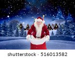 portrait of santa claus... | Shutterstock . vector #516013582