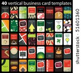 40 colorful vertical business... | Shutterstock .eps vector #51601360