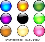 color glossy buttons | Shutterstock .eps vector #51601480