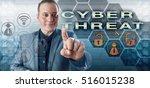 happy cyberspace security... | Shutterstock . vector #516015238