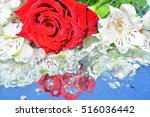 flowers  reflection in pure... | Shutterstock . vector #516036442