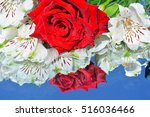 flowers  reflection in pure... | Shutterstock . vector #516036466