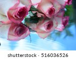 flowers  reflection in pure... | Shutterstock . vector #516036526