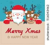 santa clauses vector set for... | Shutterstock .eps vector #516043462
