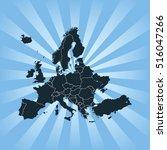 map of europe | Shutterstock .eps vector #516047266