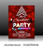 christmas party flyer design... | Shutterstock .eps vector #516050446