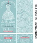 bridal shower invitations... | Shutterstock .eps vector #516051148