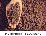 soil in hand  palm  cultivated... | Shutterstock . vector #516053146