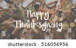 thanksgiving blessing... | Shutterstock . vector #516056956