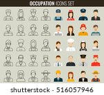 professions vector flat icons.... | Shutterstock .eps vector #516057946
