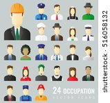professions vector flat icons.... | Shutterstock .eps vector #516058132
