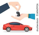 hand the seller gives the car... | Shutterstock .eps vector #516065926