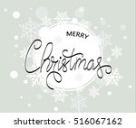 abstract christmas background.... | Shutterstock .eps vector #516067162