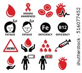blood  anemia  human health... | Shutterstock .eps vector #516077452