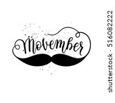 movember cancer awareness icon  ... | Shutterstock .eps vector #516082222