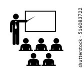 male teacher icon with pointer... | Shutterstock .eps vector #516083722