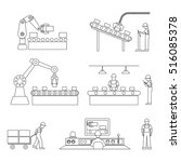 icons of industrial subject | Shutterstock .eps vector #516085378