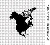 north america map    black... | Shutterstock .eps vector #516087052
