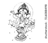 ganesha hand drawn illustration | Shutterstock .eps vector #516088498
