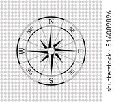 windrose compass    black... | Shutterstock .eps vector #516089896