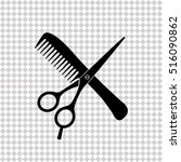 hair salon with scissors and... | Shutterstock .eps vector #516090862