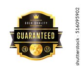 gold and black badge vintage... | Shutterstock .eps vector #516095902