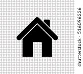 home    black vector icon | Shutterstock .eps vector #516096226