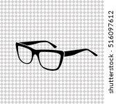 glasses    black vector icon | Shutterstock .eps vector #516097612