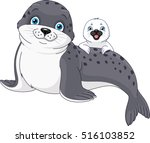 seal family | Shutterstock .eps vector #516103852
