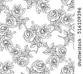 floral seamless pattern. floral ... | Shutterstock .eps vector #516109396