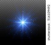 christmas star. glow light... | Shutterstock .eps vector #516109492