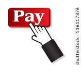 click button rectangle pay red...   Shutterstock .eps vector #516117376