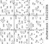 hand drawn pattern ... | Shutterstock .eps vector #516121006